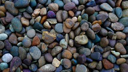 Photo sur Plexiglas Zen pierres a sable colorful pebble stone background