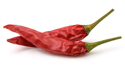 Canvas Prints Hot chili peppers Dried red hot chili pepper isolated on white background.