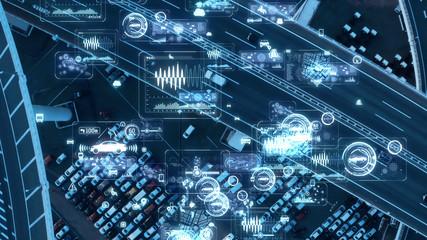 交通とネットワーク Wall mural
