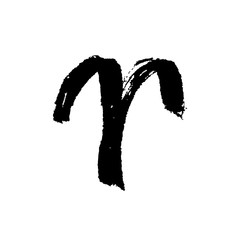 Aries zodiac sign. Hand drawn vector illustration. Hand painted design ink illustration. Aries horoscope sign, symbol, icon.