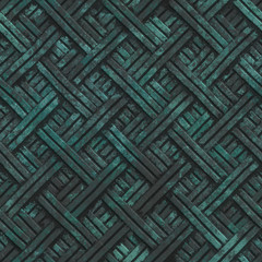 Copper seamless texture with crossed stipes pattern on a oxide metallic background, 3d illustration