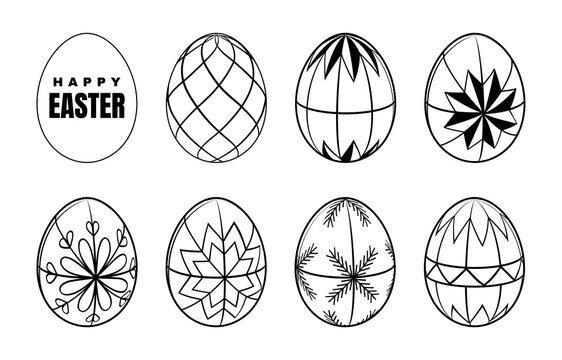 Easter egg on white background. Vector illustration