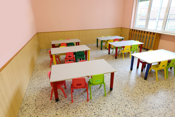 room in a nursery school where you can take lessons or during lu Fototapete