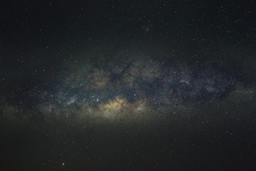 Spoed Foto op Canvas Heelal Clearly milky way galaxy in the night sky. Image contains noise and grain due to high ISO. Image also contains soft focus and blur due to long exposure and wide aperture