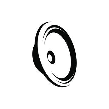 black speaker icon, vector black speaker isolated on white background.