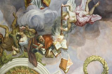 Wall Mural - Karlskirche Wien: Kuppel Fresko mit Bibel Szenen