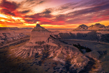 Photo sur Toile Orange eclat Scottsbluff National Monument