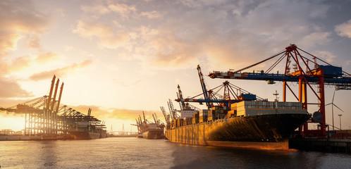 Hamburg Container Hafen Fototapete