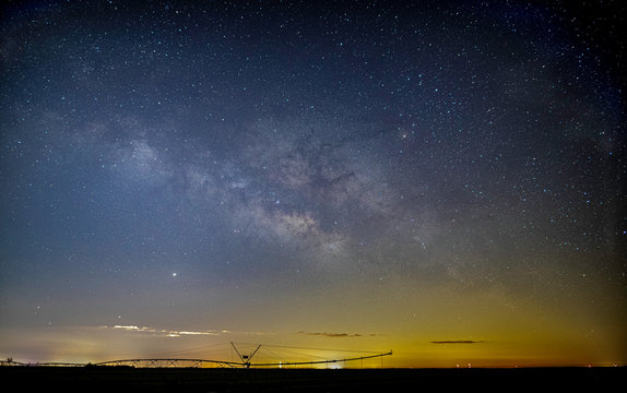night,sky,stars,Milky Way,peaceful,farm,agriculture,irrigation,Florida,Port St. Lucie