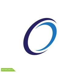 Swoosh circle icon vector logo template