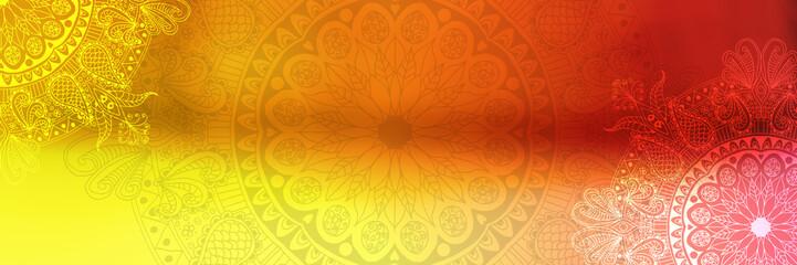 Colorful background with mandala element. Vintage decorative elements. Islam, Arabic, Indian, Ottoman motifs.