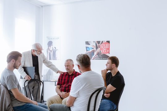 Men in support group