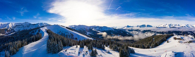 Megeve (Megève) ski station in Haute Savoie in French Alps of France