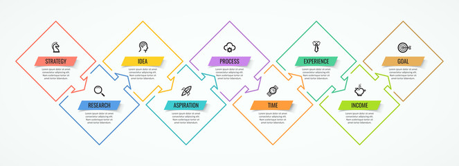 Vector infographic template Wall mural