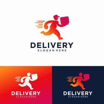 Delivery Logo Design Vector Template