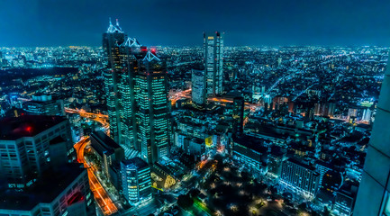 Papiers peints Tokyo 東京 新宿 夜景 サイバーパンク ~Night View of Tokyo Shinjuku Cyberpunk ~