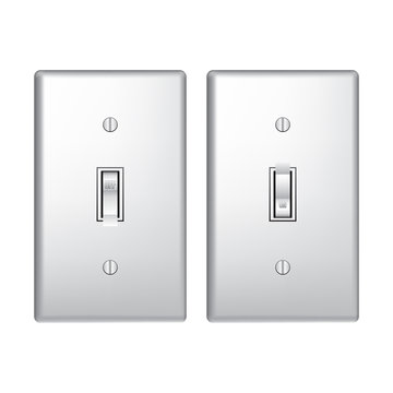 On Off Light Switch Vector Graphic Icon Illustration
