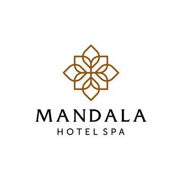 Abstract mandala flower swirl logo icon vector design. Elegant premium ornament vector logotype symbol.