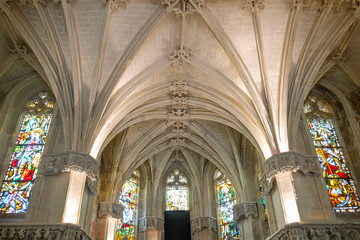 Amboise, France - November 15, 20118: The vault of the St Hubert chapel in the Royal castle of Amboise