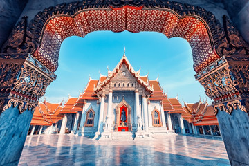 Canvas Prints Place of worship Marble temple in Bangkok