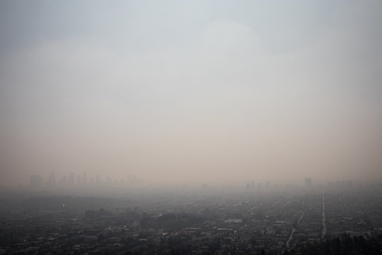 Smog in Los Angeles, California