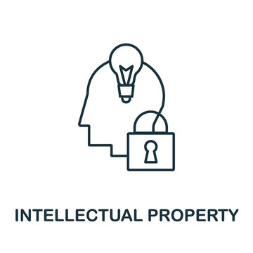 Intellectual Property icon from crowdfunding collection. Simple line Intellectual Property icon for templates, web design and infographics