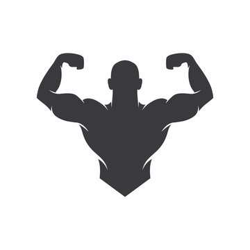 Fitness logo, GYM logo, vector icon illustration
