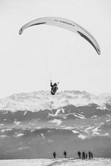Atterrissage de parachute à Grenoble