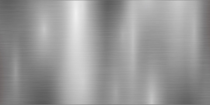 Silver background and foil texture, shiny and metal steel gradient template. Brushed stainless steel pattern – for stock
