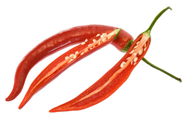 Canvas Prints Hot chili peppers red chili pepper isolated on white background