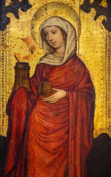 Bratislava, Slovakia. 2020/1/19. Painting of Mary Magdalene (Madeleine). St Martin's Cathedral, Bratislava, Slovakia.
