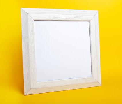 blank photo frame on white background
