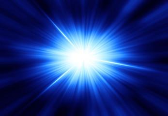 輝く放射光と放射線のアブストラクトのグラフィックス Fotobehang