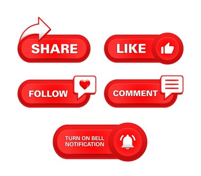 red button subscribe share like and comment