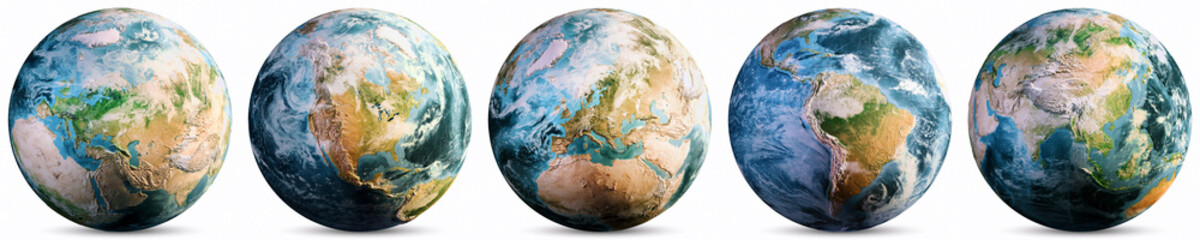 Wall Mural - Planet Earth - Europe, America, Asia