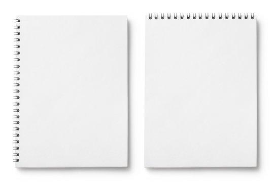 Set of blank notepads, isolated on white background