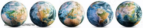 Wall mural Planet Earth - Europe, America, Asia