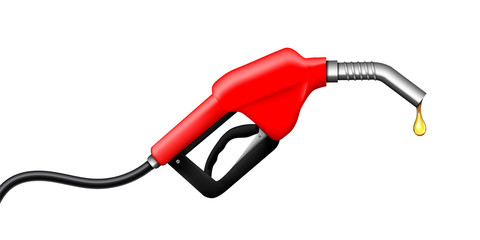 Creative vector illustration of fueling nozzle gasoline, diesel, gas isolated on transparent background. Art design petroleum fuel pump template. Abstract concept graphic pump nozzle, oil dripping