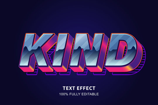Strong bold 80's old style text effect, editable text