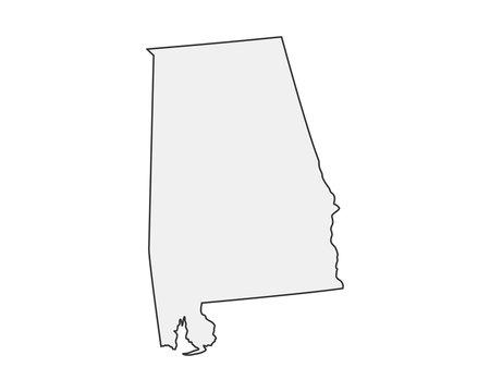 High detailed vector map. Alabama USA state