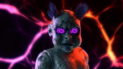 Abandoned Scary Punk Doll Scary With Hypno Eye