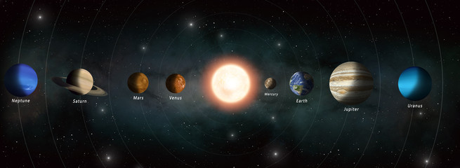 solar system planets banner