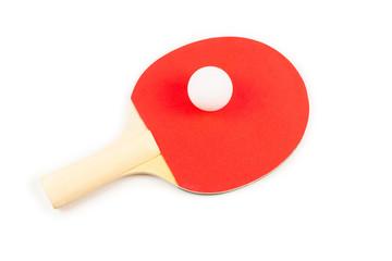 Pin pong on an orange background.