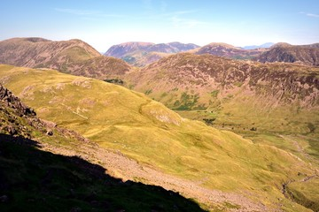 The ridge from Red Pike to Haystacks above Ennerdale