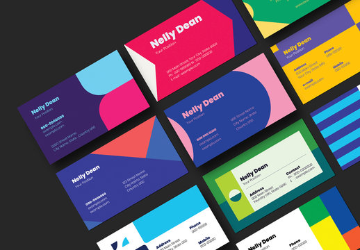 10 Geometric Business Card Layouts