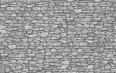 Dry stone wall masonry seamless texture map