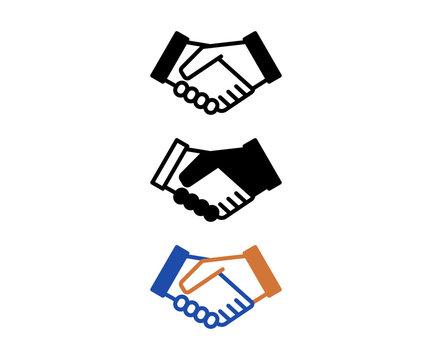 握手のアイコン、コミュニケーション、ピクトグラム