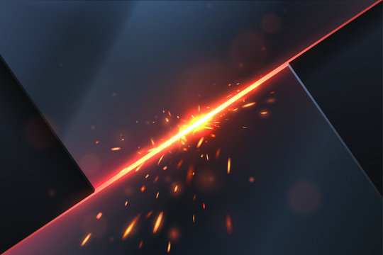 Abstract metal background with sparks