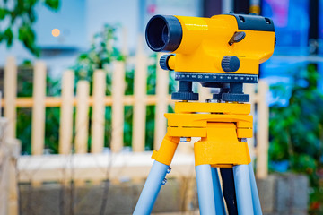 Theodolite shooting. Geodesic optical level. Geodesy. Land surveying services. Special device level for surveyor builders. Topographic work. Engineering and geological research. Construction.