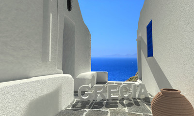 Wall Mural - Grecia